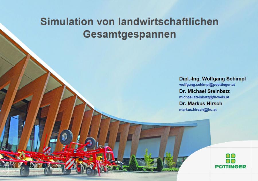 Simulation von landwirtschaftlichen Gesamtgespannsystemen